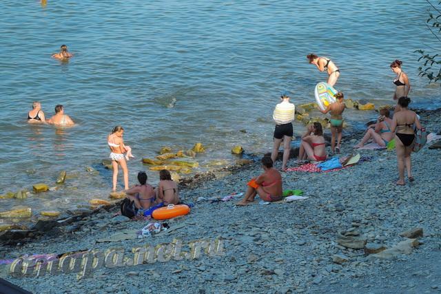 Анапа пляж на Высоком берегу первая половина августа