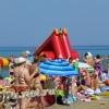 Анапа Центральный пляж в пик курортного сезона