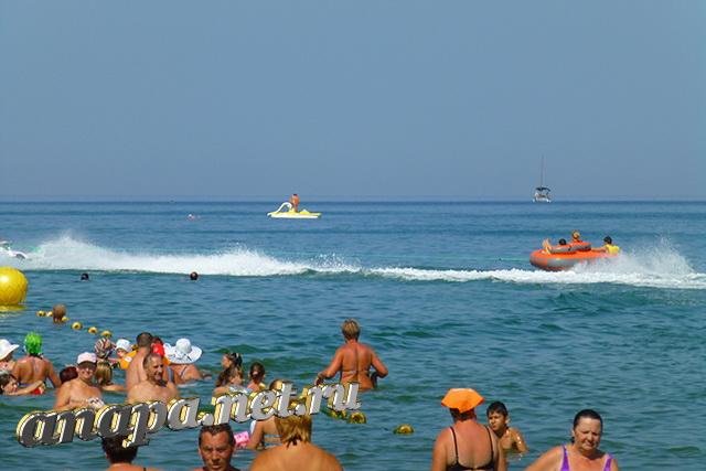 Анапа Центральный пляж аттракцион таблетка