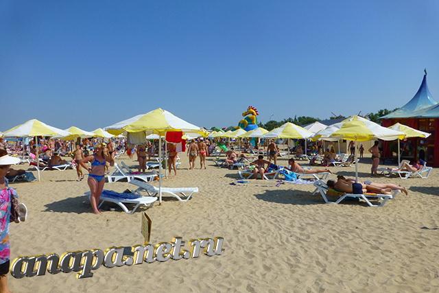 Анапа Центральный городской пляж платная зона