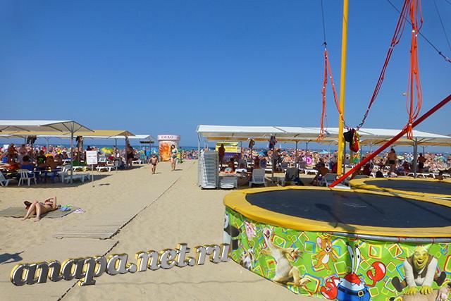 Анапа Центральный городской пляж август