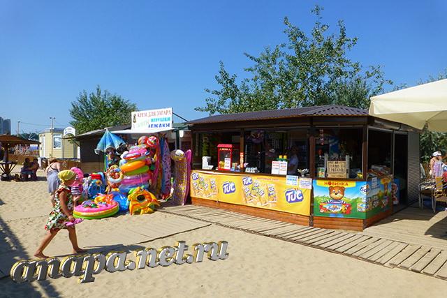 Анапа Центральный пляж август торговые точки
