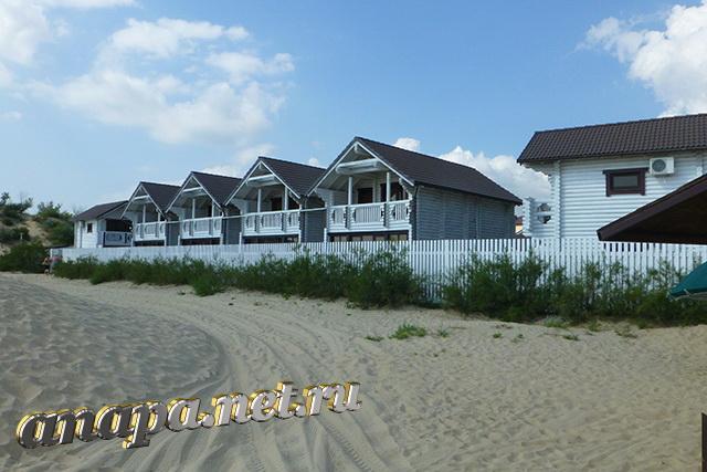 """Пляж Джемете вид на отель """"Белый пляж"""""""