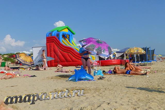 Пляж Джемете водные горки