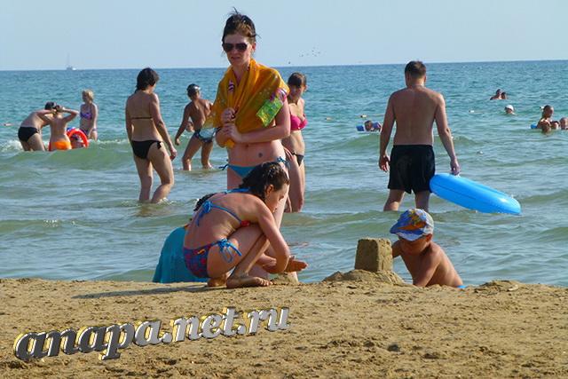 Пляж Джемете дети