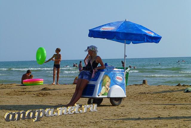 Пляж Джемете мороженное