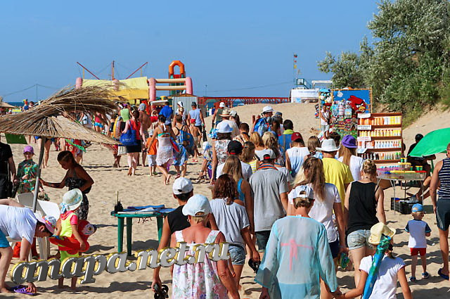 Вход на пляж Витязево с ул. Светлая