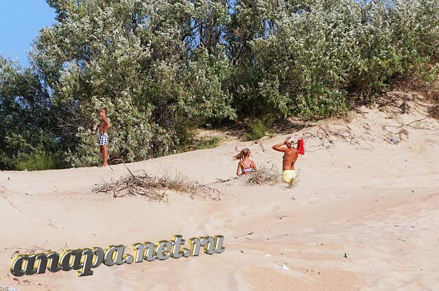 Пляж Витязево барханы